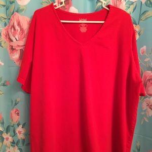 Short sleeved V neck T shirt
